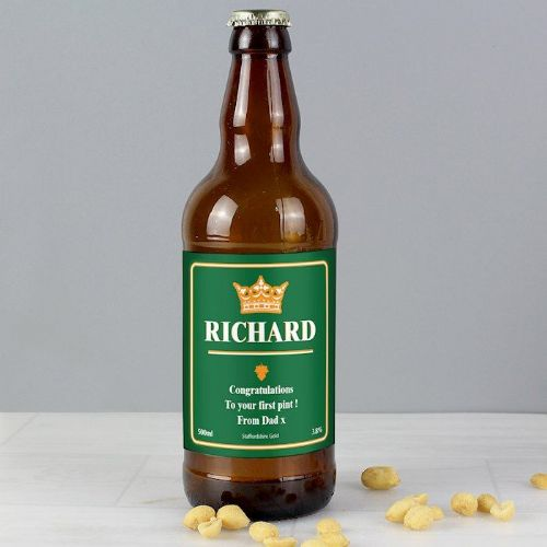 Personalised Gold Crown Beer
